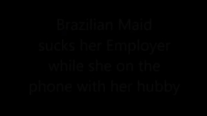Randy maid is having a casual fuck with her employer, while they are in her office