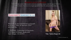 Slutty housewife, Tasha Reign is wearing satin stockings and knowing her job includes making a living